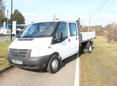 2013 (63 PLATE) FORD TRANSIT 125 T350 RWD DOUBLE CAB TIPPER