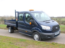 2015 (15 PLATE) FORD TRANSIT 350 TWIN WHEEL DOUBLE CAB TIPPER