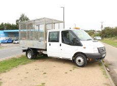 !!!! NO ADMIN FEES !!!! 2014 (64 PLATE) FORD TRANSIT 125 T350 RWD CAGED TIPPER