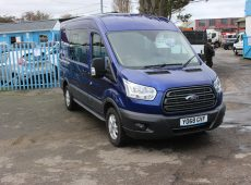 !!!! NO ADMIN FEES !!!! 2018 (68 PLATE) FORD TRANSIT 350 MEDIUM-MEDIUM CREW VAN 7 SEATS