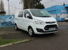 !!!! NO ADMIN FEES !!!! 2017 (67 PLATE) TRANSIT CUSTOM LIMITED CREW CAB EURO 6