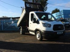 !!!! NO ADMIN FEES !!!! 2018 (18 PLATE) TRANSIT 350 EURO 6 DOUBLE CAB TIPPER