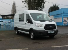 !!!! NO ADMIN FEES !!!! 2015 (65 PLATE) FORD TRANSIT 350 CREW VAN LONG WHEEL BASE MEDIUM ROOF