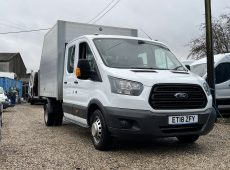 !!!! NO ADMIN FEES !!!! 2018 (18 PLATE) FORD TRANSIT TIPPER EURO 6 TWIN REAR WHEEL