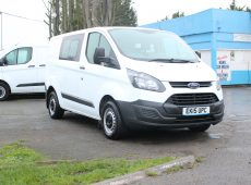 !!!! NO ADMIN FEES !!!! 2015 (15 PLATE) FORD TRANSIT CUSTOM CREW VAN 1 OWNER