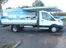2018 (18 PLATE) FORD TRANST FLATBED EURO 6