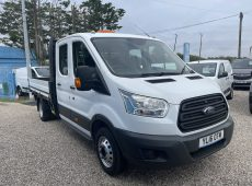 2016 (16 PLATE) FORD TRANSIT 350 DROPSIDE FLATBED DOUBLE CAB 7 SEATS